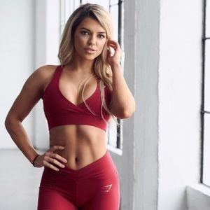 Gymshark Nikki B Sports Bra in Beet Red